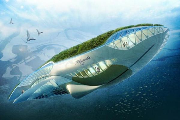 Physalia, le bateau-jardin fluvial de Vincent Callebaut. Davantage de bateaux du futur à découvrir sur Sansible #sansible #bateau #futur #innovation #ecoconception #ecodesign #futurpropre