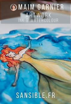 Undulation, Tranquil for Inktober 2018, illustration and painting by Maïm Garnier, art with ink and watercolour. #inktober #inktober2018 #drawingchallenge #characterdesign #illustrationartists #sketches #jakeparker #watercolourartist #illustrationcharacterdesign #illustrationart #artinspiration #MaimGarnier #sealover #swimmingtime #creativeprocess #tranquil #inktoberart