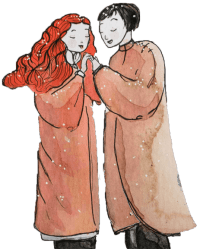 Lovers winter song art by Maïm Garnier