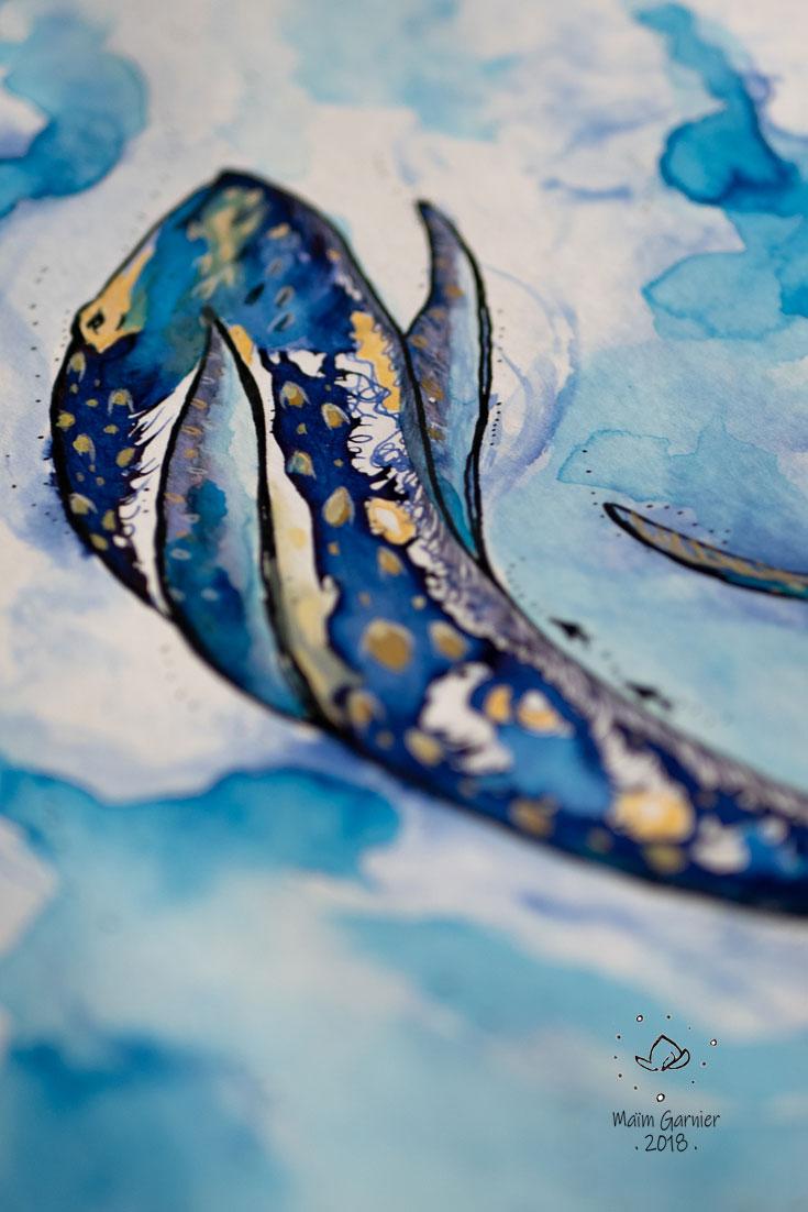 whale-diving-swiming-sea-water-art-creation-watercolour-ink-inktober-maim-garnier-sansible