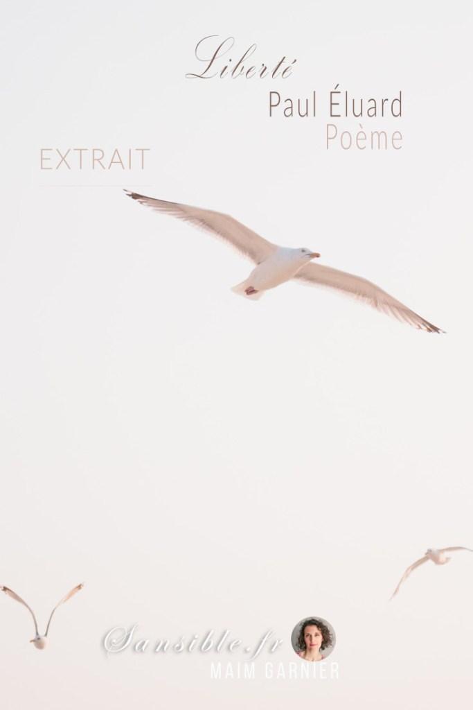 """""""Liberté"""" de Paul Éluard : Chaque semaine, un poème ou extrait de prose d'un autre auteur, cité dans le roman L'ombre des lucioles. #poesie #poeme #pauleluard #liberte #litterature #sansible #epigraphe #lombredeslucioles #surrealisme #poesie"""