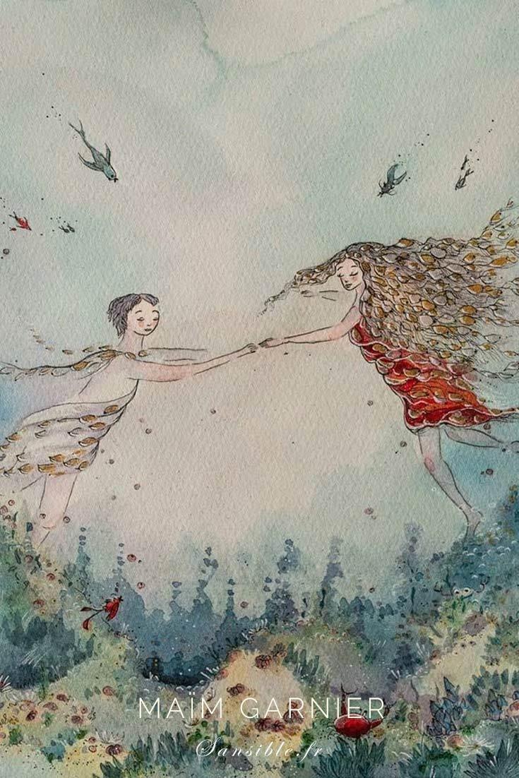 Vibrations de Sirènes, Inspiration Klimt et Michel-Ange