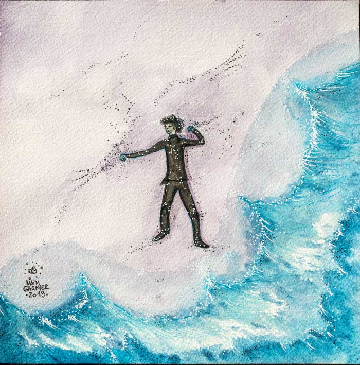 Castaway. #Esperia serie, new art piece, ink and watercolor #illustration for a Dominique Poulain (Nimentrix) story. #aquarelle #watercolorartists #illust #fantasyartwork #MaimGarnier #inktober2019 #inktober #castaway