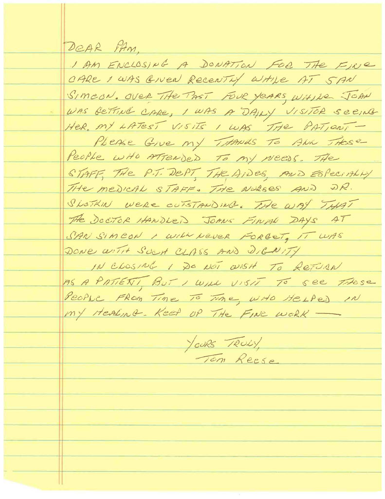 Thomas Reese's letter