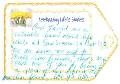 Celebrating Life's Stories - card 1