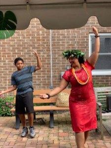 luau dancing at San Simeon