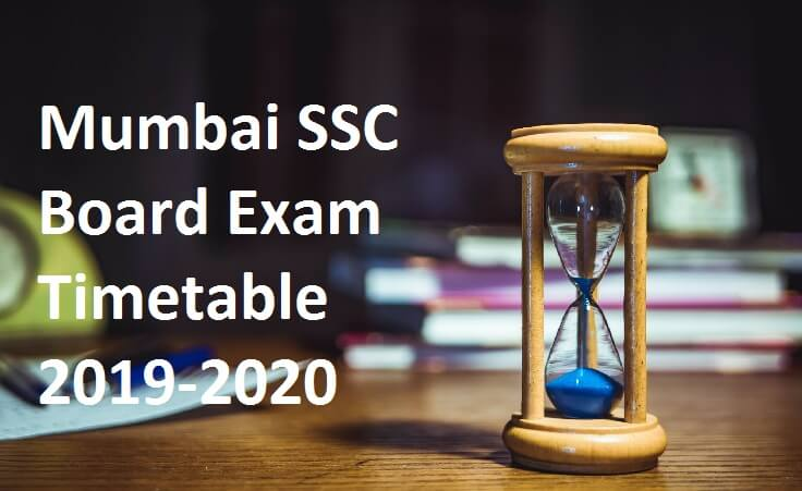 Mumbai SSC Board Exam Timetable 2019-2020