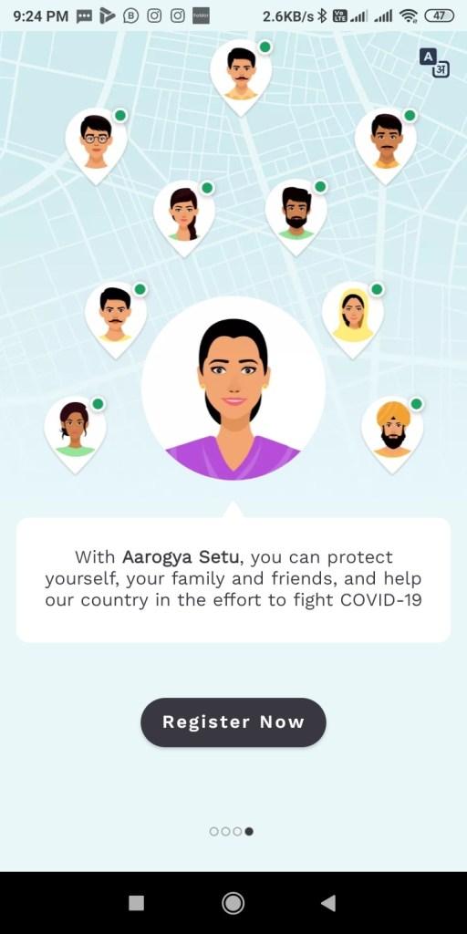 Screenshot 2020 04 15 21 24 54 708 nic.goi .aarogyasetu आरोग्य सेतु Apps कोरोना वायरस Surksha Kavach