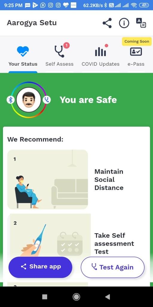 Screenshot 2020 04 15 21 25 28 689 nic.goi .aarogyasetu आरोग्य सेतु Apps कोरोना वायरस Surksha Kavach