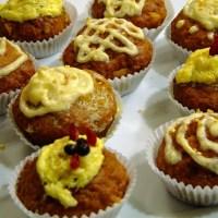 Cupcakes Redvelvet & Carrot sans beurre ni oeufs