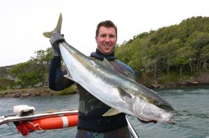 Cohan Jones with a 13 kg Yellowtail Kingfish on the 2013 South West Rocks Trip
