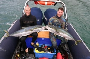 Emanuel Bova & Cowan Jones with their Kings 18kg & 13kg respectively - South West Rocks 2013