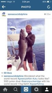 Aaron Puckridge's World Record Green Jobfish