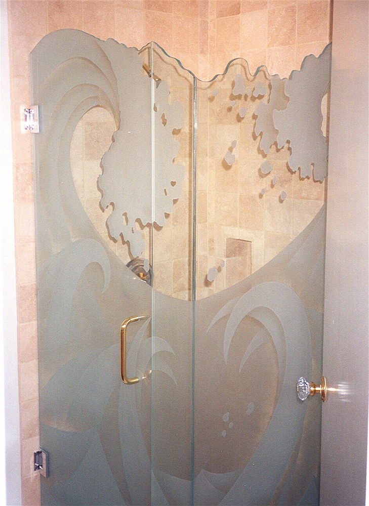 Custom Showers With Frosted Glass Designs Sans Soucie