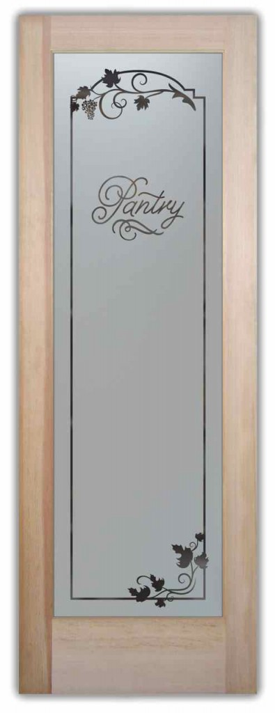 Pantry Doors With Etched Glass Designs That Suit Your