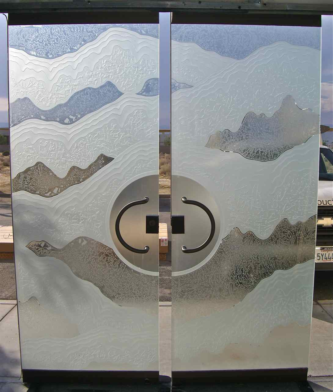 Frameless Frosted Glass Doors Shoreline Design Sans Soucie