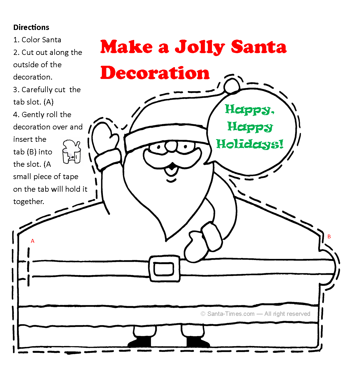 Printable Santa Decoration
