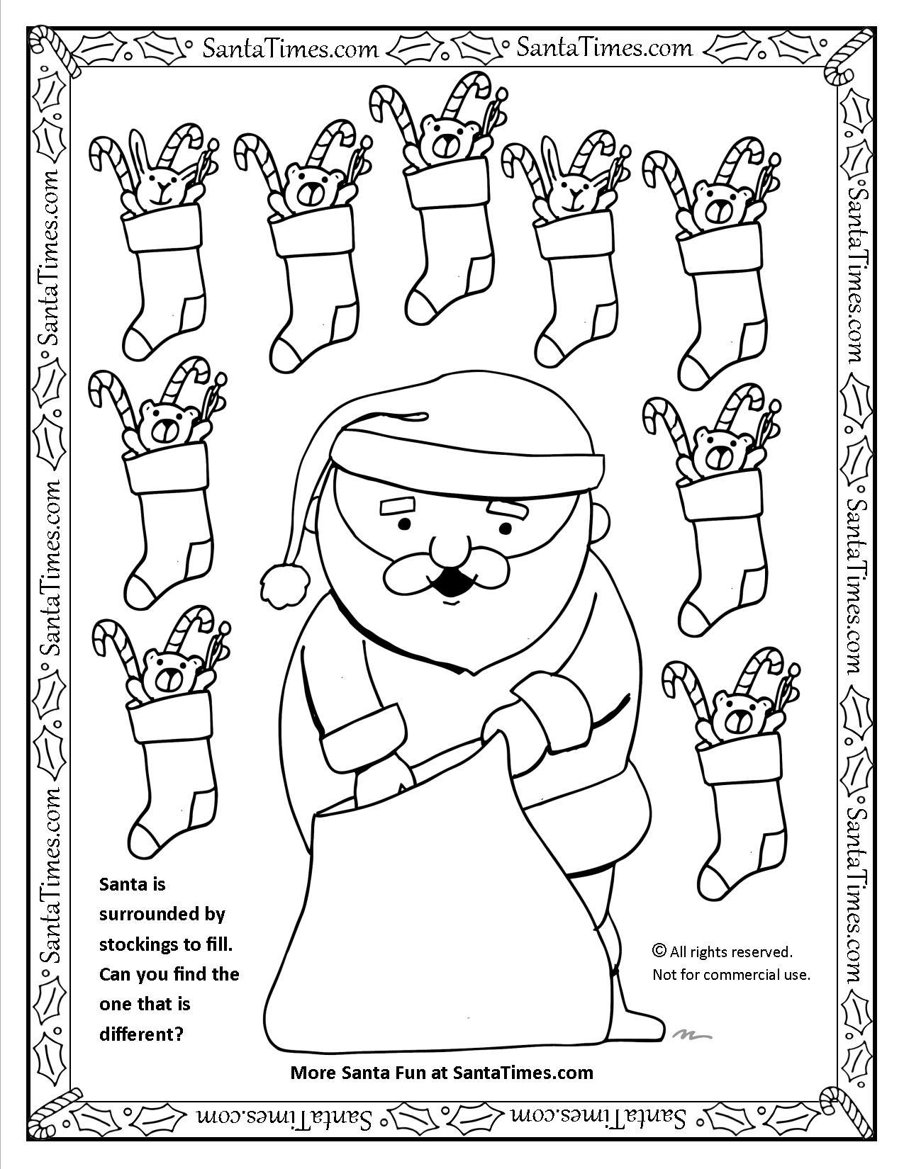 Santa Is Filling Stockings