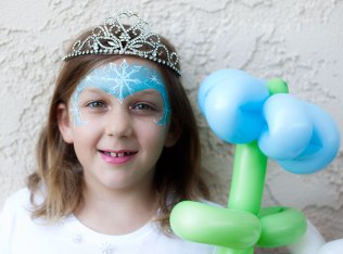 Frozen Snowflake Face Painting