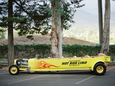 Santa Barbar Hot Rod Limo & Eucalyptus Trees