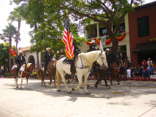 Horses Parade up State Street in the largest gathering of Equines in the United States, Photo by SBLocal.com