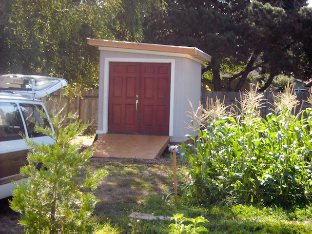 our fantastic shed was built by volunteers