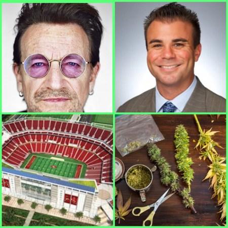 Dominic Caserta U2 Levi's Stadium Marijuana & More