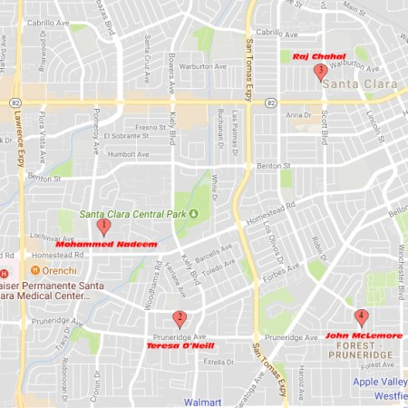 Mercury News 2016 Santa Clara Candidates Map