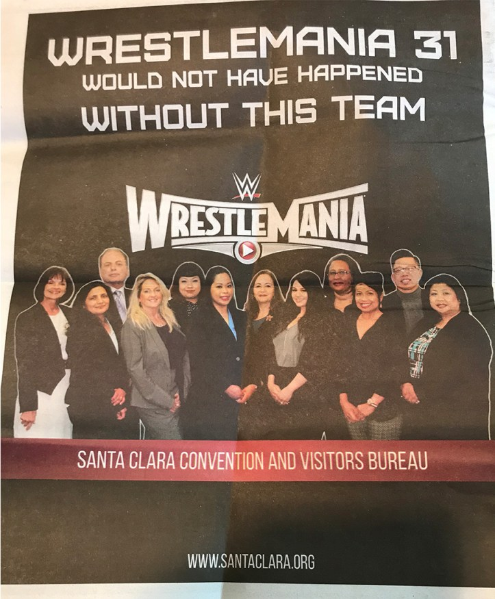 Santa Clara CVB Wretlemania 31