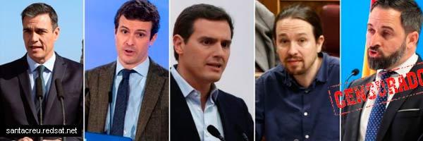 Algunos detalles sobre el debate en televisión de las elecciones  28-A 2019