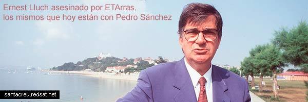 Pedro Sánchez se burla de Ernest Lluch
