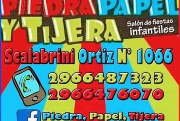 PIEDRA, PAPEL Y TIJERA SALON DE FIESTAS INFANTILES