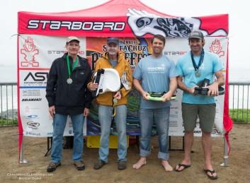 Waveski Finalists. 1 Mike Wessesls, 2 Ian Macleod, 3 Ed King, 4 Ken King.