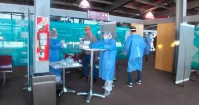 testeos en el Aeropuerto de El Calafate