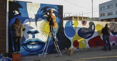Pintaron mural