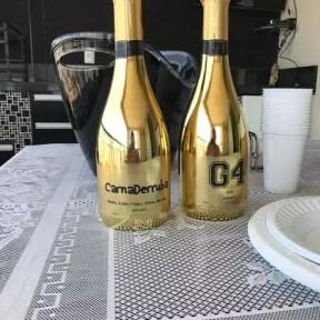 champagne dourado personalizado