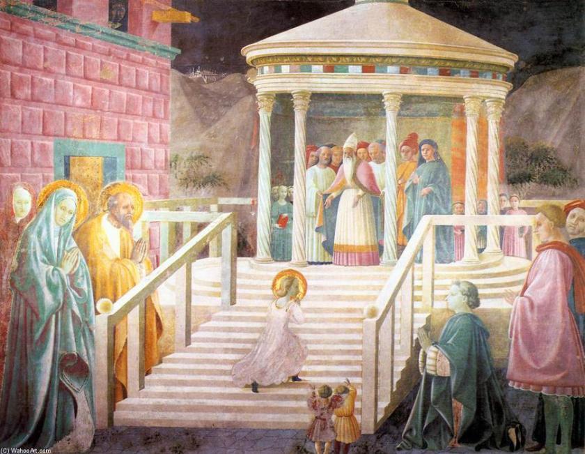 Paolo Uccello, Presentación de María en el Templo, 1434-1440, Catedral, Cappella del'Assunta, Prato.