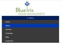 Blue Iris Mobile Menu