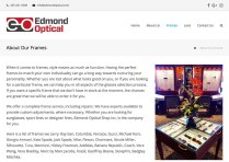 Edmond Optical About Frames Page