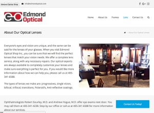 Edmond Optical About Lens Page