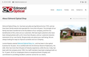 Edmond Optical About Page