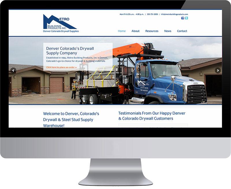 Santa Fe Website Design Project Metro Building Products