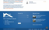 Metro Building Products Footer