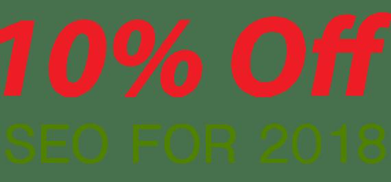 SEO 10 percent discount