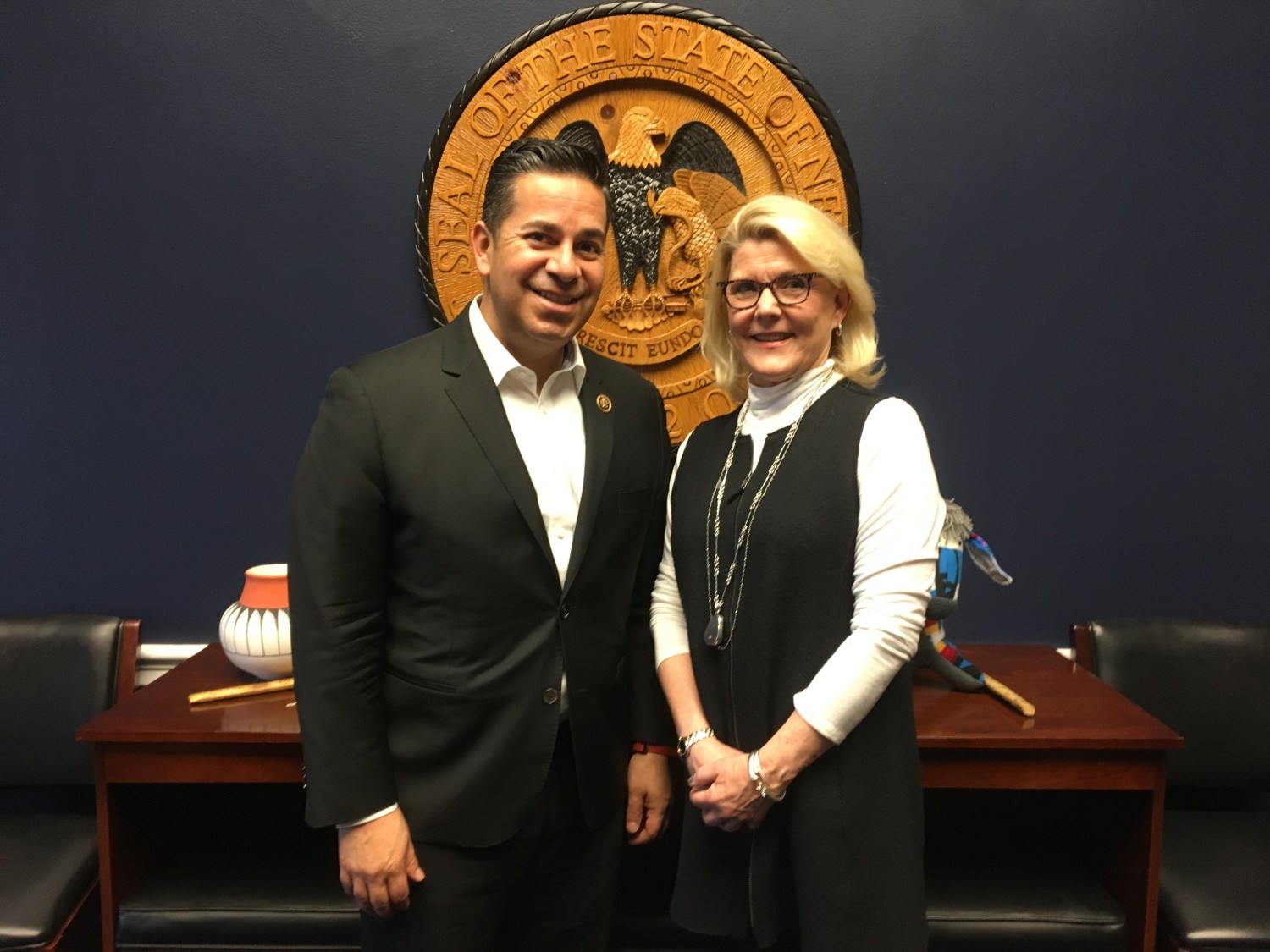 SFGC president meeting with Congressman Lujan