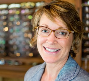 Christie's new TD Tom Davies frames were custom designed to fit her perfectly.