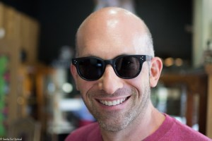"""Jason in black """"Afton"""" by Oliver Peoples sunglasses"""
