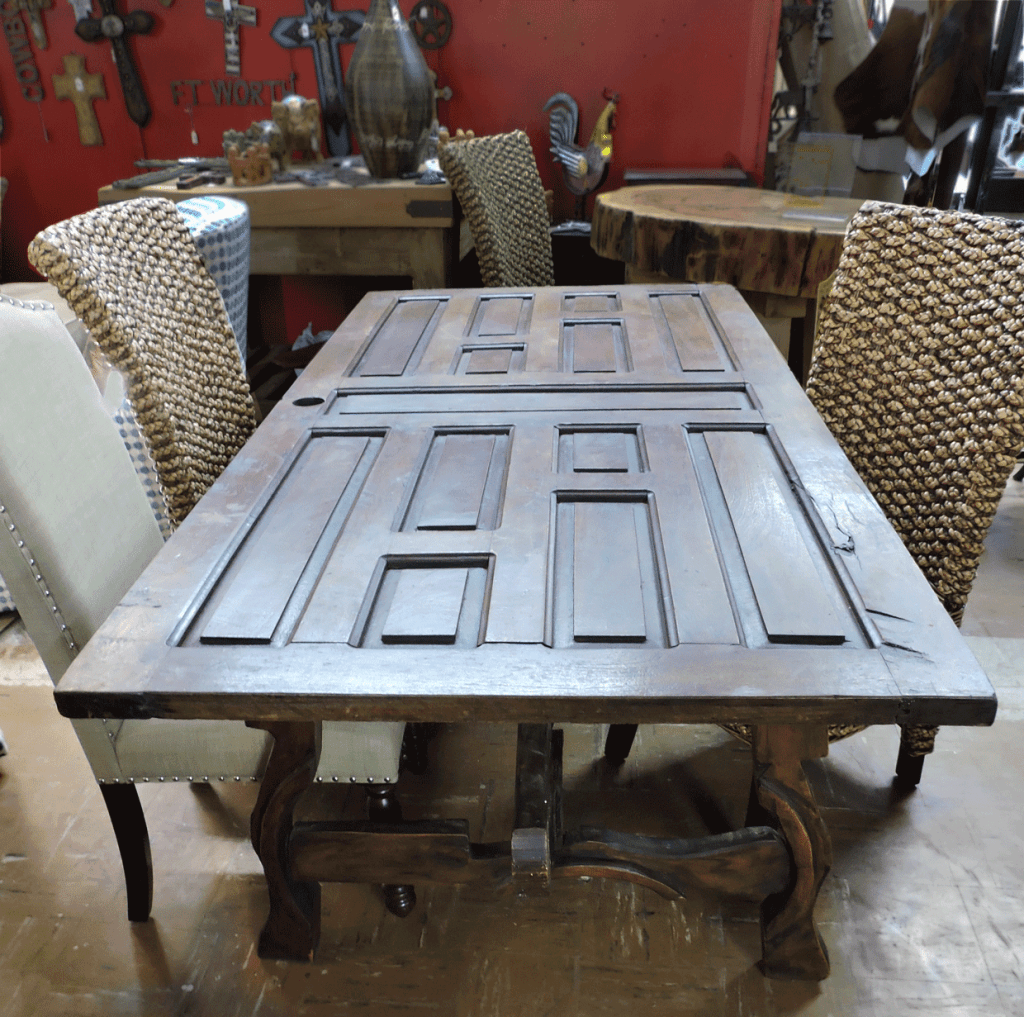 Old Door Table.One of the kind.