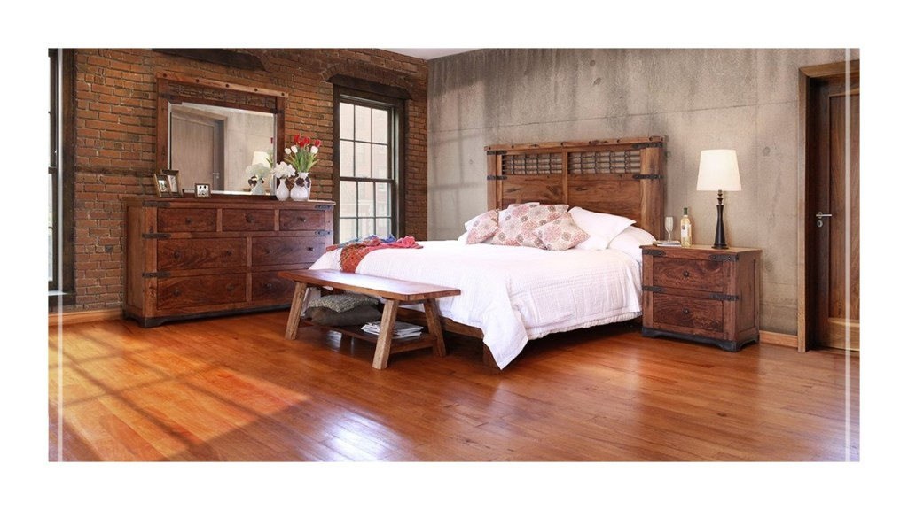 1. This outstanding 100 solid wood Collection features Parota wood native from Mexico and South America. 2. Solid wood construction elements on tops include hand carved butterfly joints and lose finger joints construction between slabs.