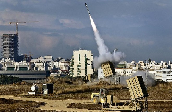 Israel's Iron Dome missile defense system.